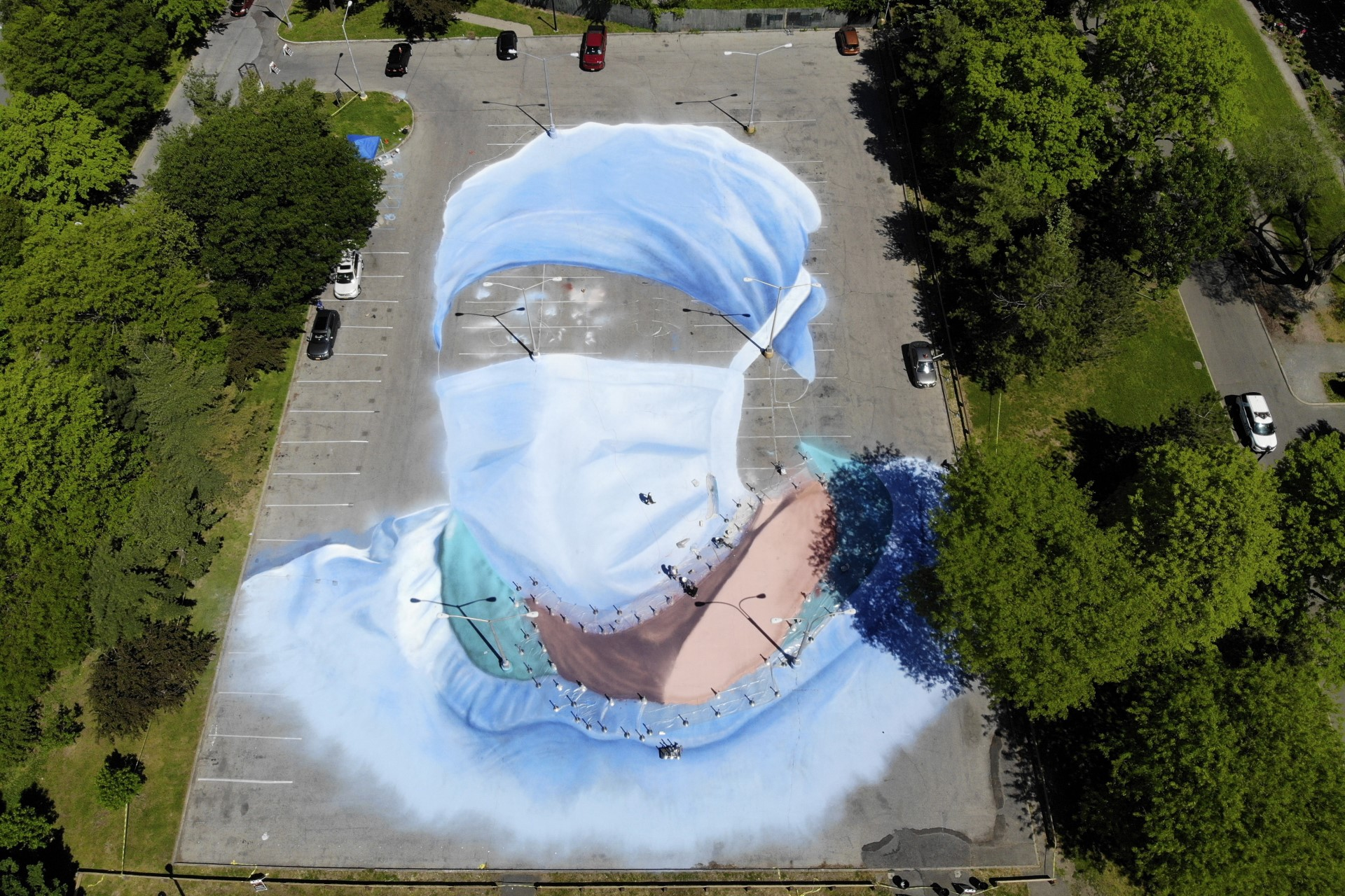 Street art in times of a pandemic