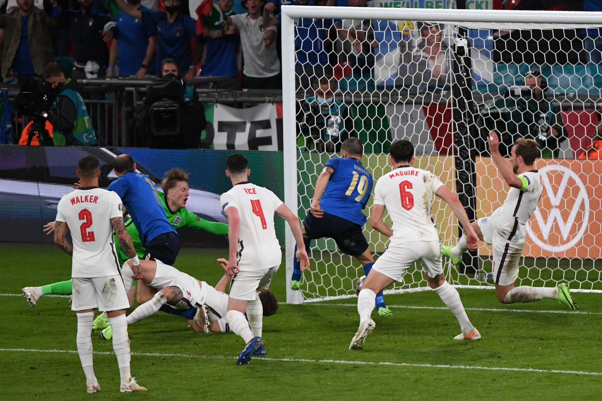 Photos: Italy celebrating, England gutted after Euro2020 final